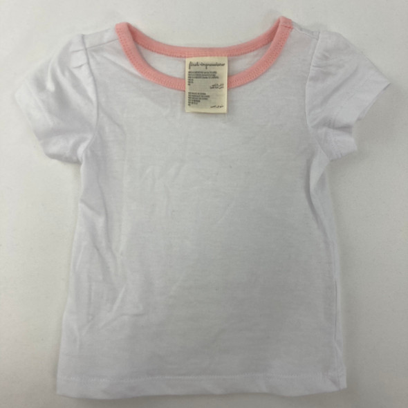 Solid White Tee 0-3 mth