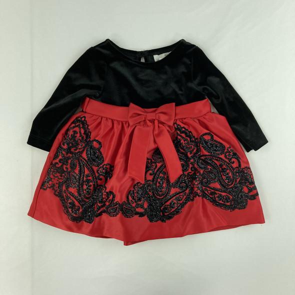 Velvet Holiday Dress 3-6 mth