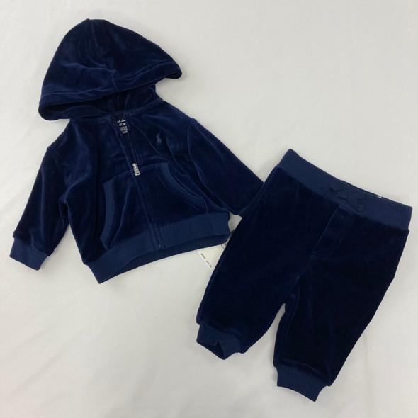Velour Sweater 2-pc Set 3 mth