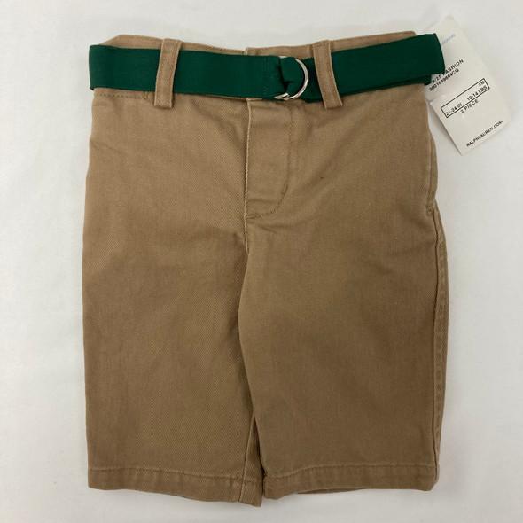 Khaki Pants W Green Belt 3 mth