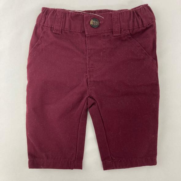 Burgundy Pants 3 mth