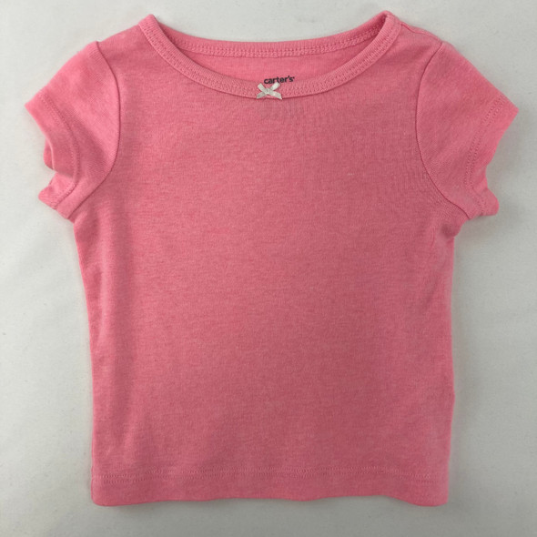 Solid Pink Top 6 mth