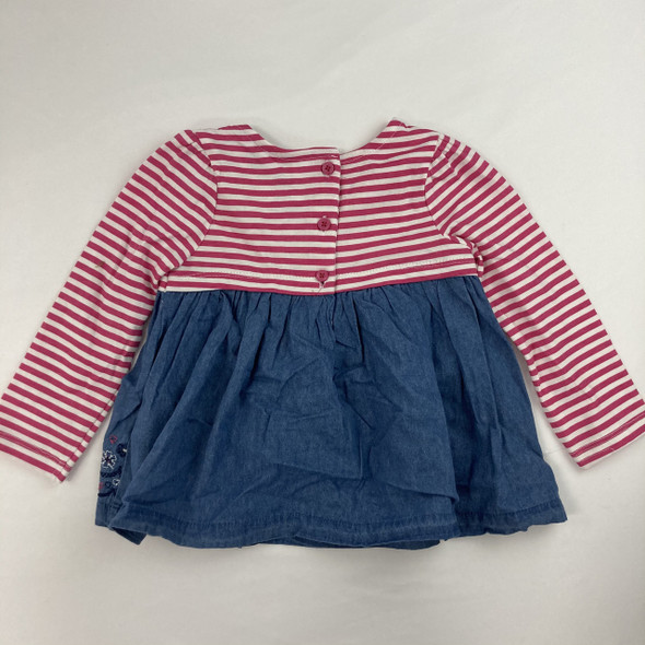 Striped Floral Top 18 mth
