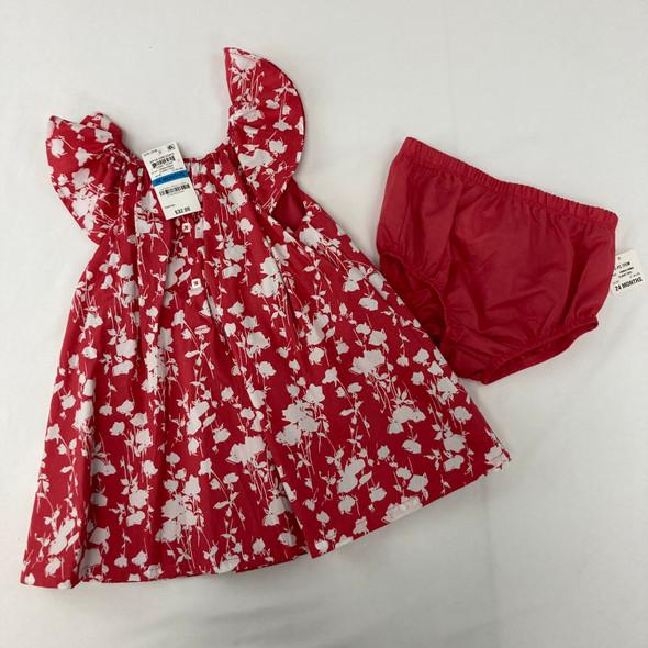 Claret Red Pattern Dress 24 mth
