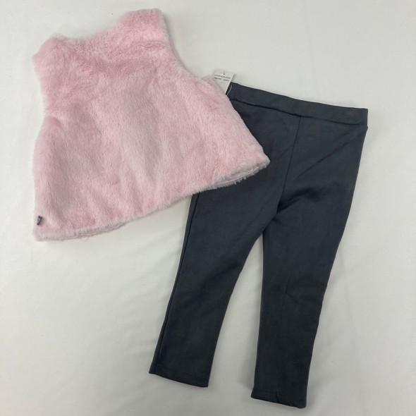 Vest & Suede Pants 2-pc Set 24 mth
