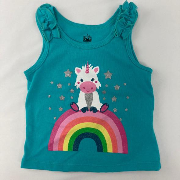 Rainbow Unicorn Tank 18 mth