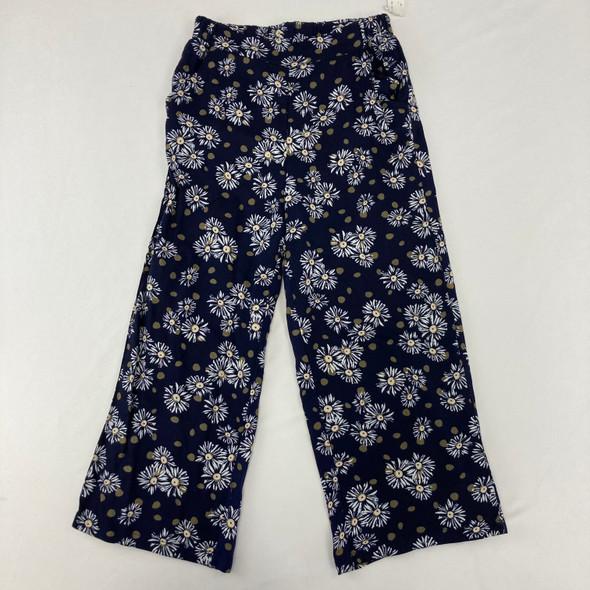 Floral Polka Dot Loose Fit Pants Medium