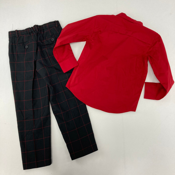 Red Plaid 2-pc Suit 6 yr