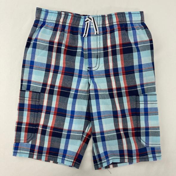 Plaid Blue Shorts 6 yr