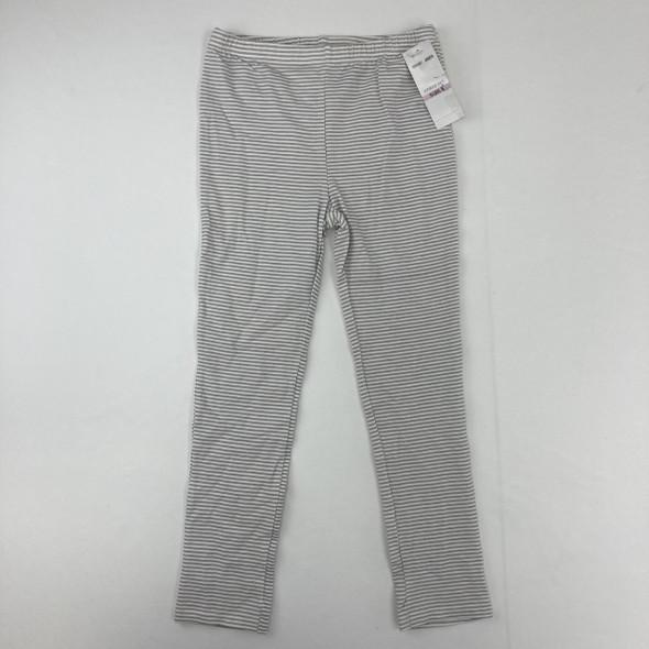 Gray Striped Leggings 6X