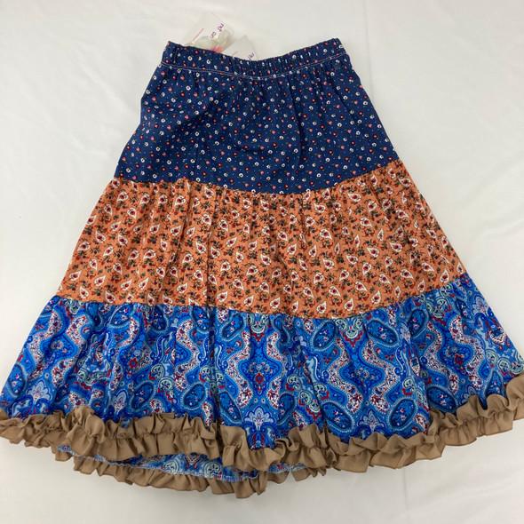 Pattern Ruffle Skirt 8-10 yr