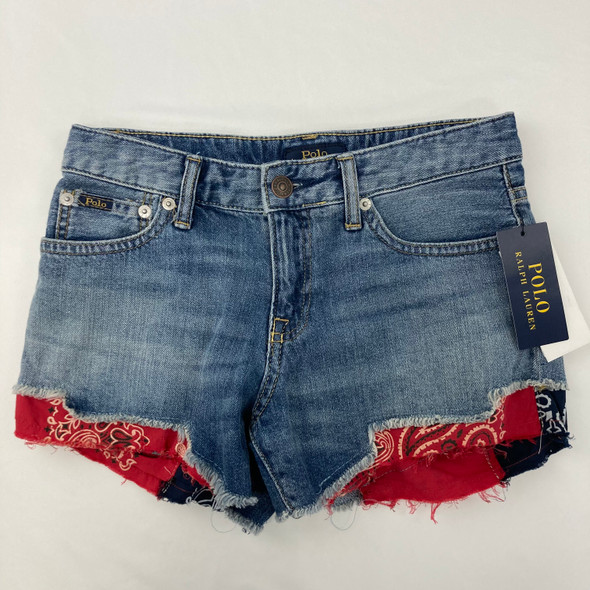 Bandana Denim Shorts 14 yr