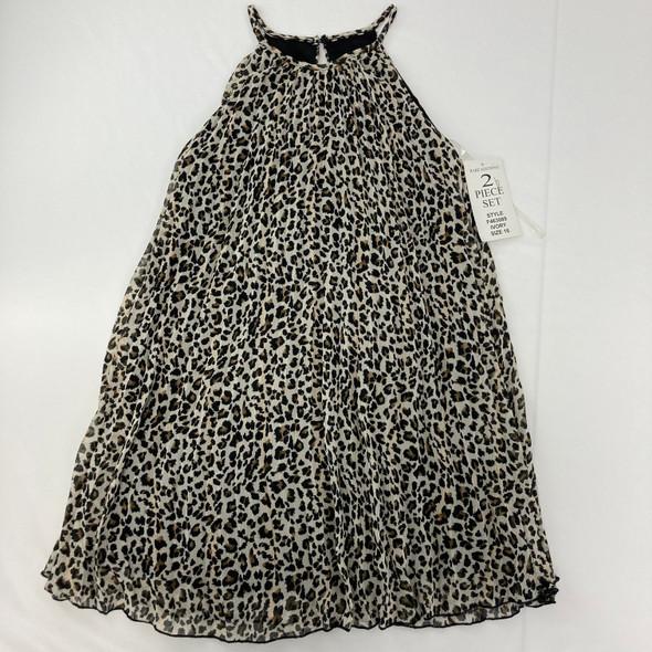 Cheetah Print Ruffle Tank 16 yr
