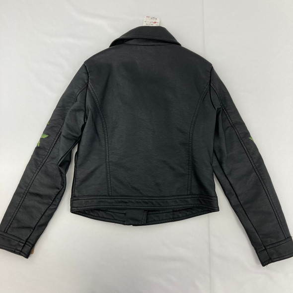 Vegan Leather Rose Jacket Medium