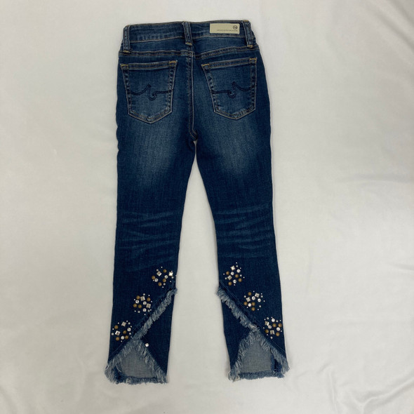 Frayed and Bedazzled Denim Pants 7