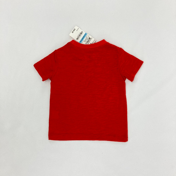 Heathered Red Top 3-6 mth