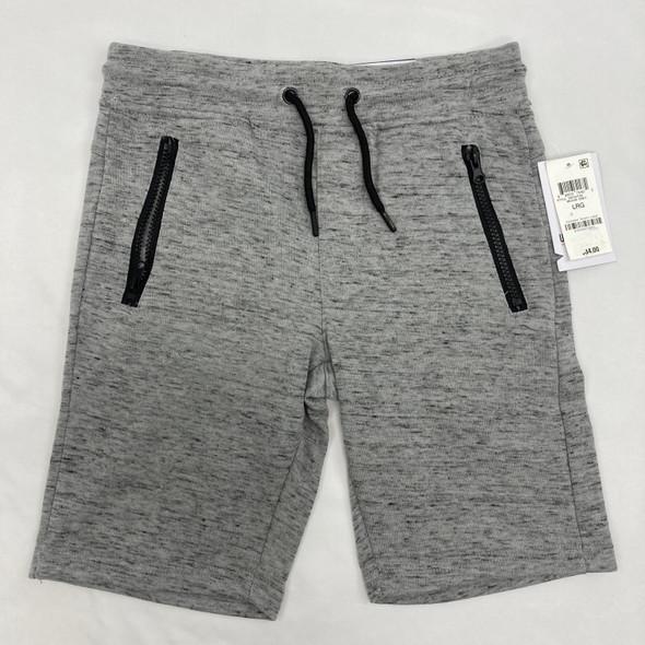Gray Zipper Shorts Large