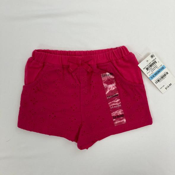 Eyelet Shorts 3-6 mth
