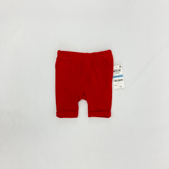 Solid Red Bermuda Shorts 3-6 mth