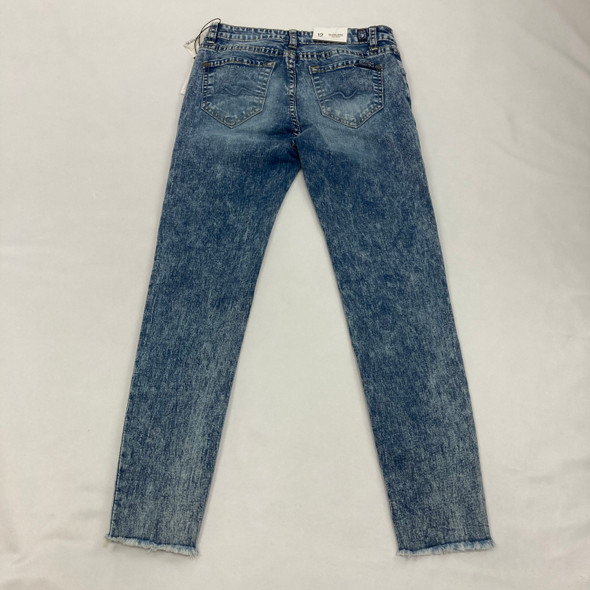 Faded Blue Ankle Cut Out Jeans 12 yr