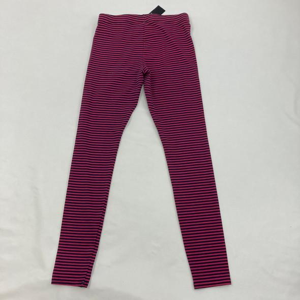 Pink & Blue Striped Leggings Large