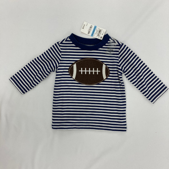Striped Football Top 3-6 mth