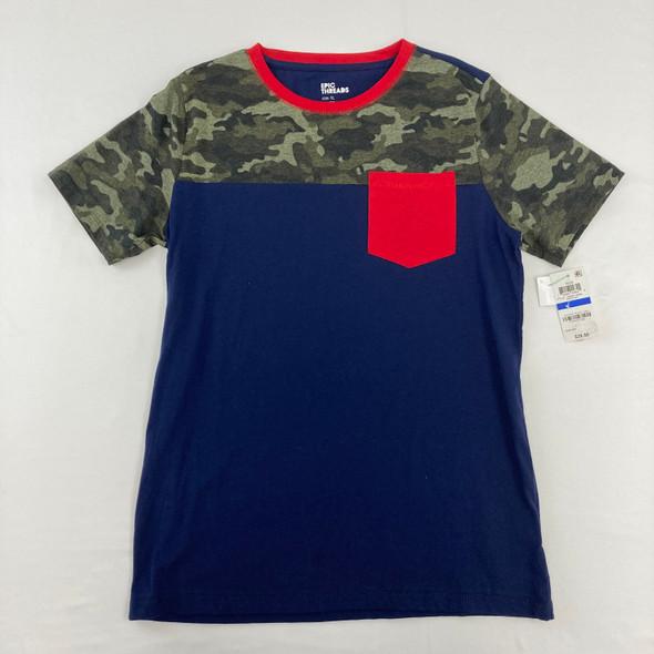 Camo Color Block Top XL