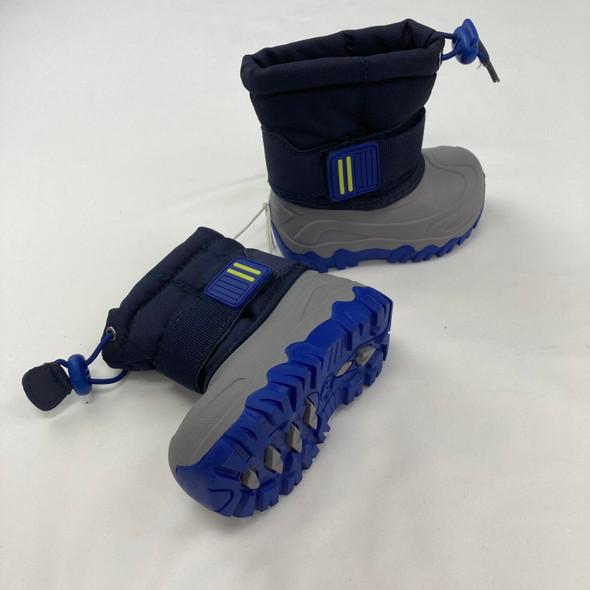 Tricolor Snow Boots Size 4