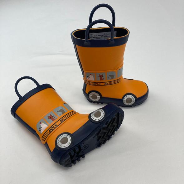 School Bus Rain Boots Size 5