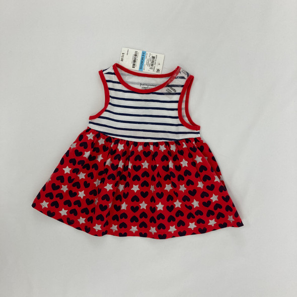 Hearts and Stars Dress 3-6 mth