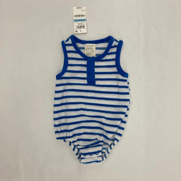 Blue Striped 1-pc 3-6 mth
