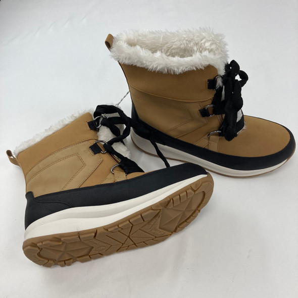 Tan Furry Snow Boots Size 6