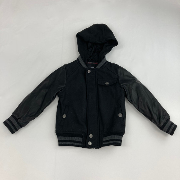 Black Button Down Soft Jacket M 5/6 yr