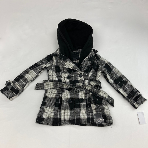 Checkered Button Up Jacket Small