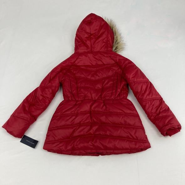 Long Chevron Puffer Jacket M 8-10 yr