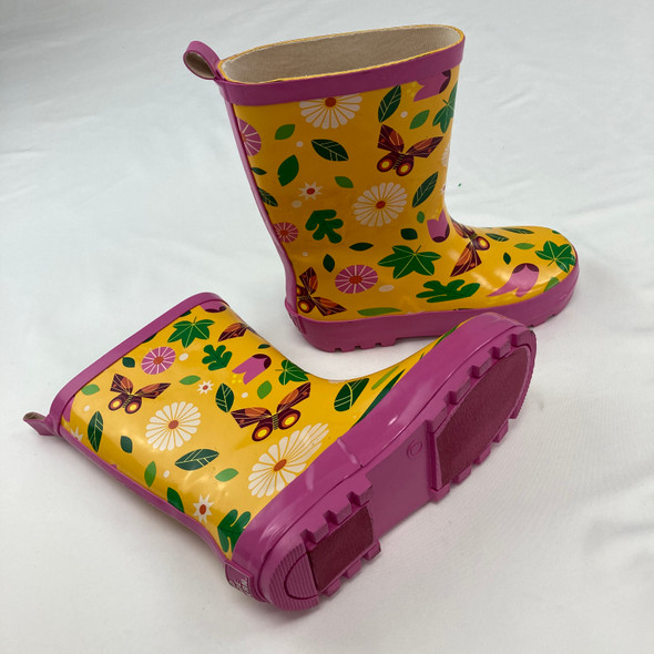 Nature Themed Rain Boots Size 3