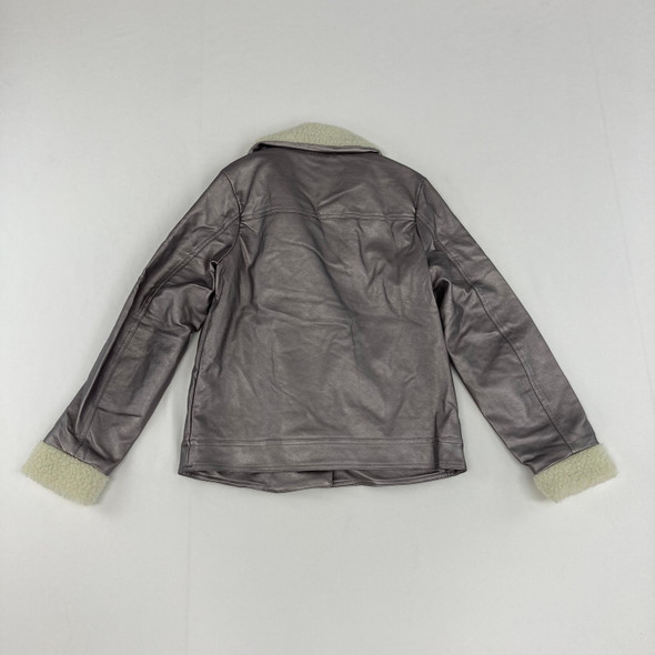 Shinny Faux-Leather Jacket Large