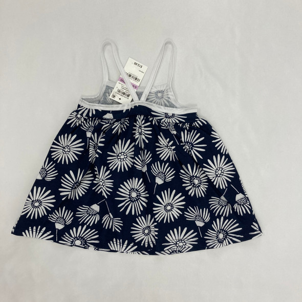 Navy Nautical Flower Dress 6-9 mth