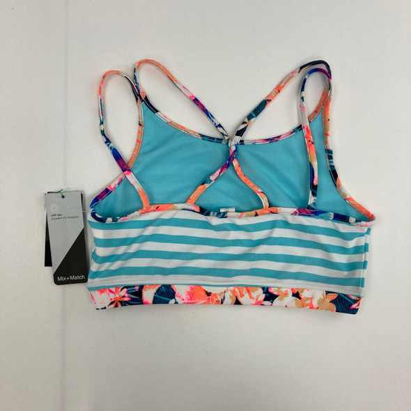 Striped Tropical swim Top XL