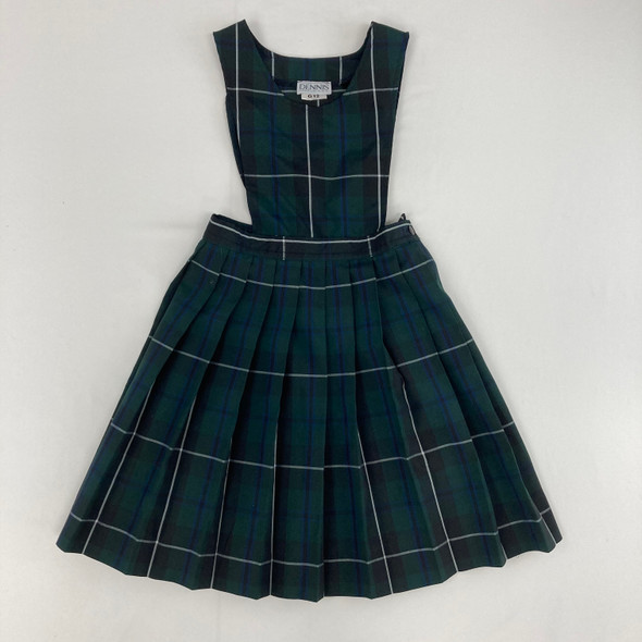 Green Plaid Dress 12 yr