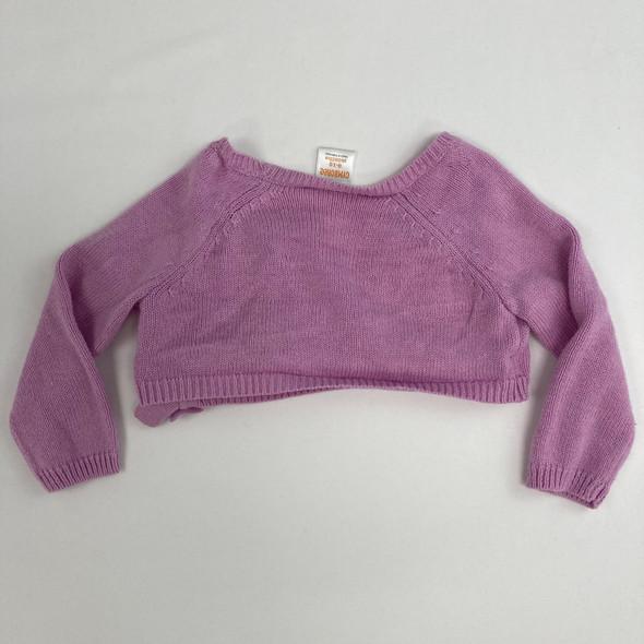 Short Purple Cardigan 6-12 mth