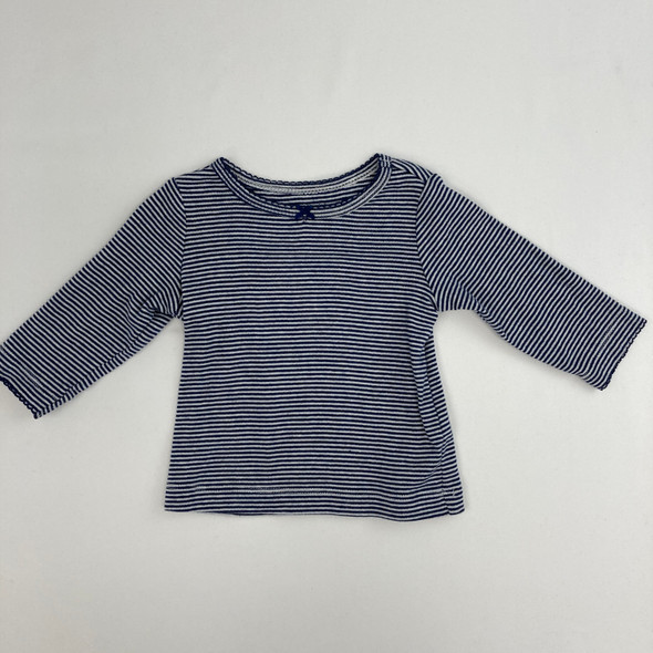 Blue Striped Top 3 mth