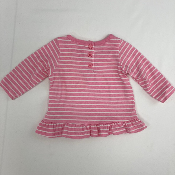 Pink Stripped Top 3-6 mth