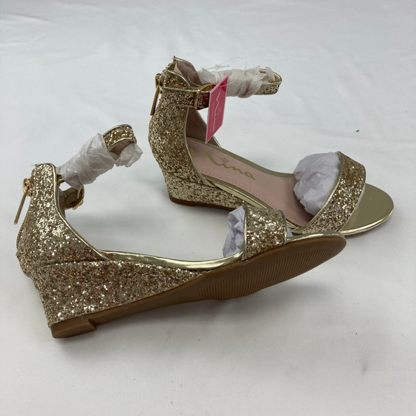 Gold Chunky Heel Size 1
