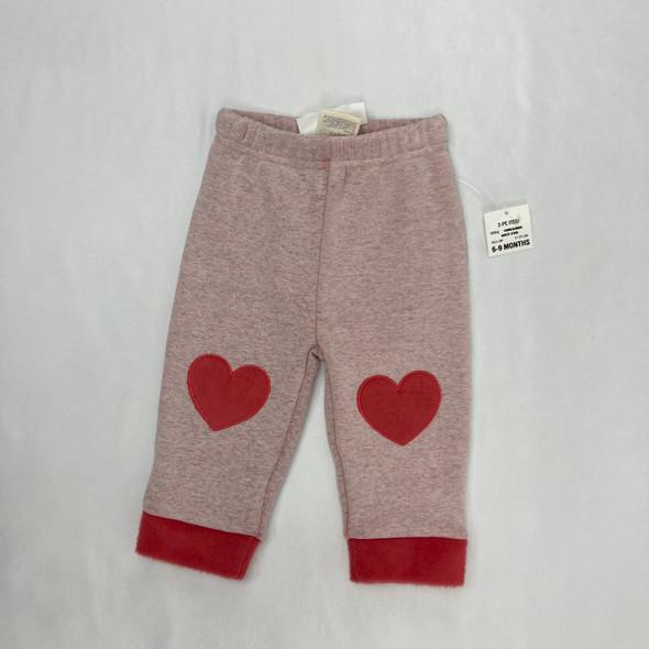 Extra Soft Heart Sweatpants 6-9 mth