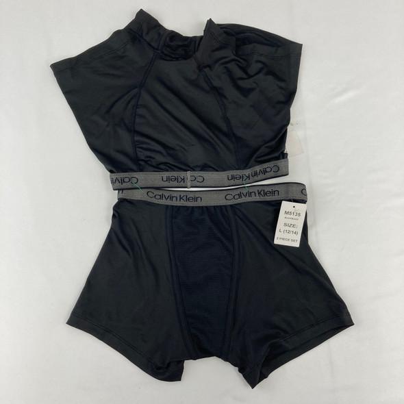 2 Black Boxer Briefs Large 12-14