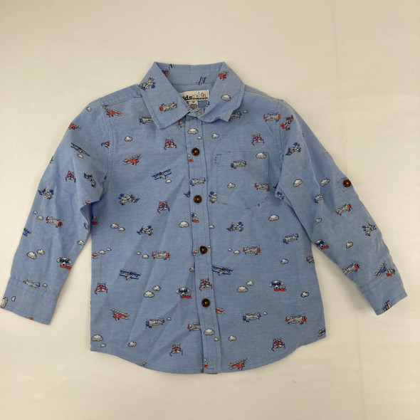 Airplane Button Up 3T