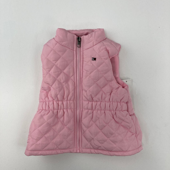 Pink Quilted Vest 6-9 mth
