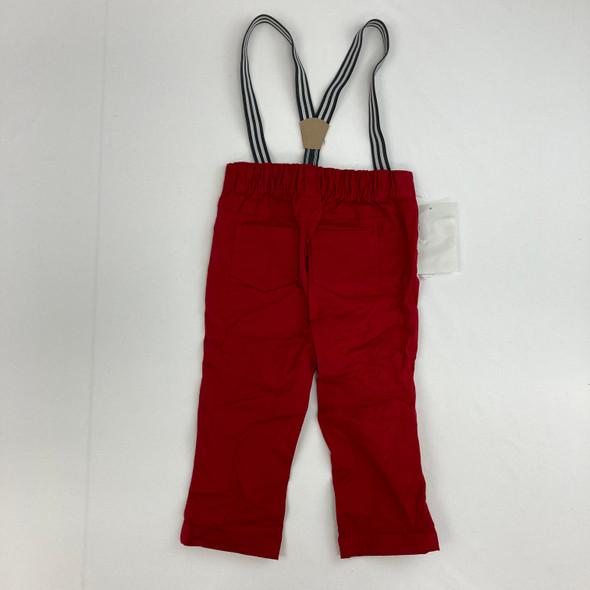 Khaki Pants W/ Suspenders 18 mth