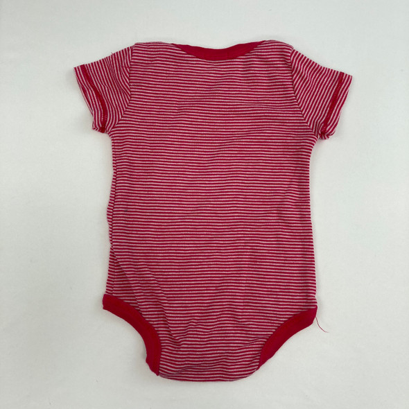 Pink Striped Top 6-12 mth